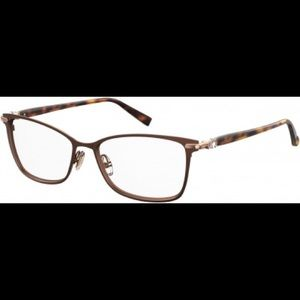 MaxMara MM1398 4IN MATTE BROWN & TORT/GOLD